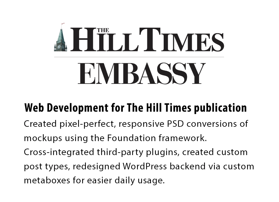 Hill Times Website Conversion