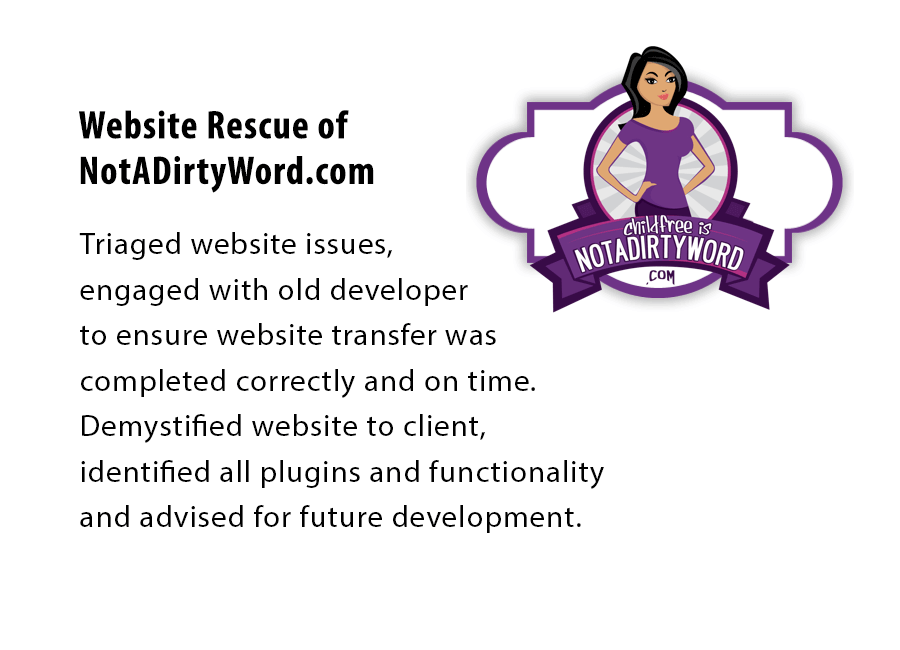 NotADirtyWord.com Website Rescue